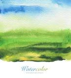 Acrílico abstrato e quadro pintado aquarela fotografia de stock