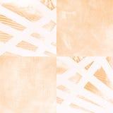 Acrílico del extracto en el fondo de papel - sepia Foto de archivo