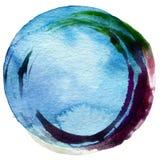 Acrílico do círculo e fundo abstratos da aquarela Imagens de Stock