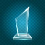 Acrílico en blanco brillante transparente Crystal Glass Trophy Aw del vector Imagen de archivo libre de regalías