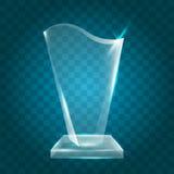 Acrílico en blanco brillante transparente Crystal Glass Trophy Aw del vector Fotos de archivo libres de regalías