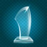 Acrílico en blanco brillante transparente Crystal Glass Trophy Aw del vector Fotografía de archivo libre de regalías