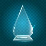 Acrílico en blanco brillante transparente Crystal Glass Trophy Aw del vector Foto de archivo