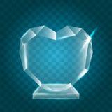 Acrílico en blanco brillante transparente Crystal Glass Trophy Aw del vector Fotos de archivo