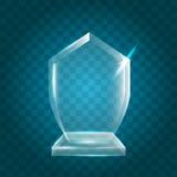 Acrílico en blanco brillante transparente Crystal Glass Trophy Aw del vector Imágenes de archivo libres de regalías
