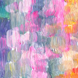Acrílico textured sumário e fundo pintado à mão da aquarela Fotos de Stock Royalty Free