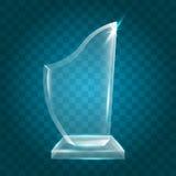 Acrílico vazio de brilho transparente Crystal Glass Trophy Aw do vetor ilustração royalty free