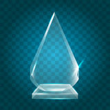 Acrílico vazio de brilho transparente Crystal Glass Trophy Aw do vetor ilustração do vetor