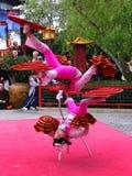 Acróbatas chinos 1 de Disneyworld Epcot Foto de archivo libre de regalías