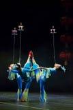 Acróbatas chinos. Compañía de la acrobacia de Shantu. Imagenes de archivo