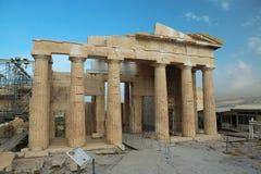 Acrópole ateniense em Grécia foto de stock