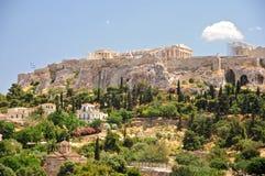 A acrópole de Atenas Imagens de Stock Royalty Free