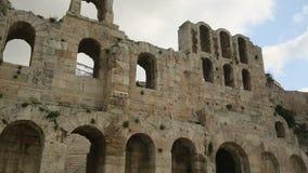 Acrópole de Atenas, Grécia Curso video estoque