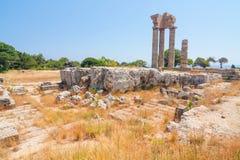 Acrópole de Rhodes Greece fotos de stock