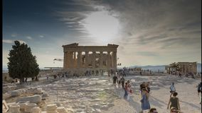 Acrópole do lapso de tempo de Atenas 4k do interior vídeos de arquivo