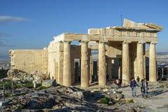 A acrópole em Atenas, Grécia fotos de stock royalty free