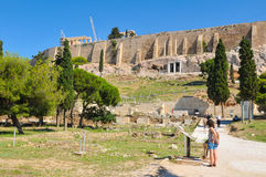 Acrópole em Grécia, Atenas Fotos de Stock Royalty Free