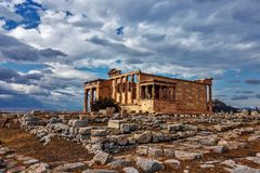 Acrópole - Erechtheion - Atenas Imagens de Stock