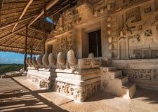 Acrópole, a estrutura a maior em ruínas de Ek Balam, Iucatão, mim imagem de stock royalty free