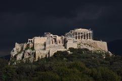 Acrópolis antes de la tormenta Foto de archivo