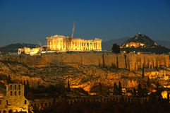 Acrópolis, Atenas foto de archivo
