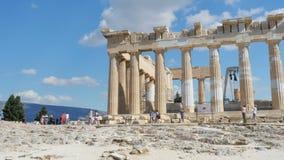 Acrópolis, Atenas, Grecia, 4k almacen de metraje de vídeo