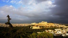 Acrópolis de Atena Grecia Foto de archivo libre de regalías