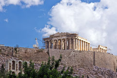 Acrópolis de Atheens Imagen de archivo