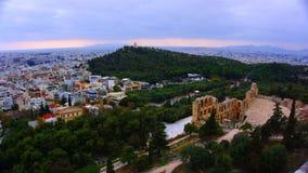 Acrópolis de la ciudad de Atena Grecia Imagen de archivo libre de regalías