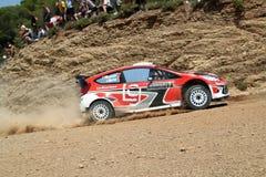 Acrópolis de la reunión de 2011 WRC - fiesta RS de Ford Imágenes de archivo libres de regalías