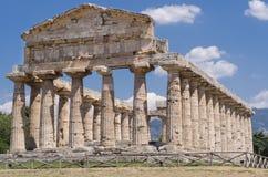 Templos de Paestum fotografía de archivo libre de regalías