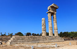 Acrópolis de Rodas Imágenes de archivo libres de regalías