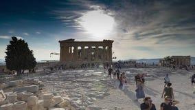 Acrópolis del lapso de tiempo de Atenas almacen de metraje de vídeo