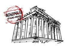 Acrópolis Diseño de la ciudad de Atenas, Grecia Libre Illustration