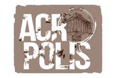 Acrópolis Diseño del logotipo de Atenas, Grecia Libre Illustration
