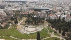 Acrópolis en Atenas almacen de metraje de vídeo