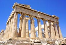 Acrópolis en Atenas Imágenes de archivo libres de regalías