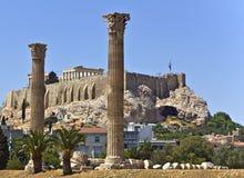 Acrópolis en Atenas, Grecia foto de archivo