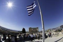 Acrópolis en Atenas, Grecia Fotos de archivo libres de regalías