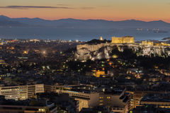 Acrópolis en Atenas, Grecia Fotografía de archivo libre de regalías