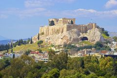 Acrópolis en Atenas, Grecia Imagen de archivo