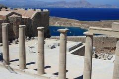 Acrópolis en la Rodas Imagenes de archivo
