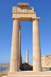 Acrópolis Lindos, isla Rodas, Grecia imagen de archivo libre de regalías