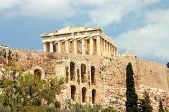 Acrópolis-Parthenon Fotografía de archivo libre de regalías