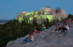 Acrópolis, Parthenon Atenas foto de archivo