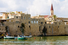 Acre. The mediterranean historic city of Acre in north Israel Royalty Free Stock Photos