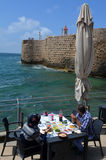 Acre Akko old city port - Israel stock images