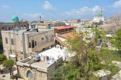 Acre Akko old city port skyline, Israel Stock Image