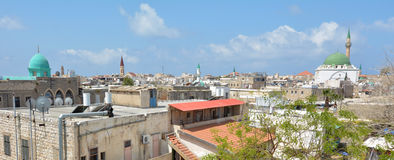 Acre Akko old city port skyline, Israel Stock Images