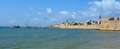 Acre Akko old city port skyline, Israel Royalty Free Stock Photography